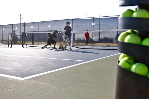 At the Austin Tennis Center, specialized equipment is used to compliment the junior training schedule including youth ball machines